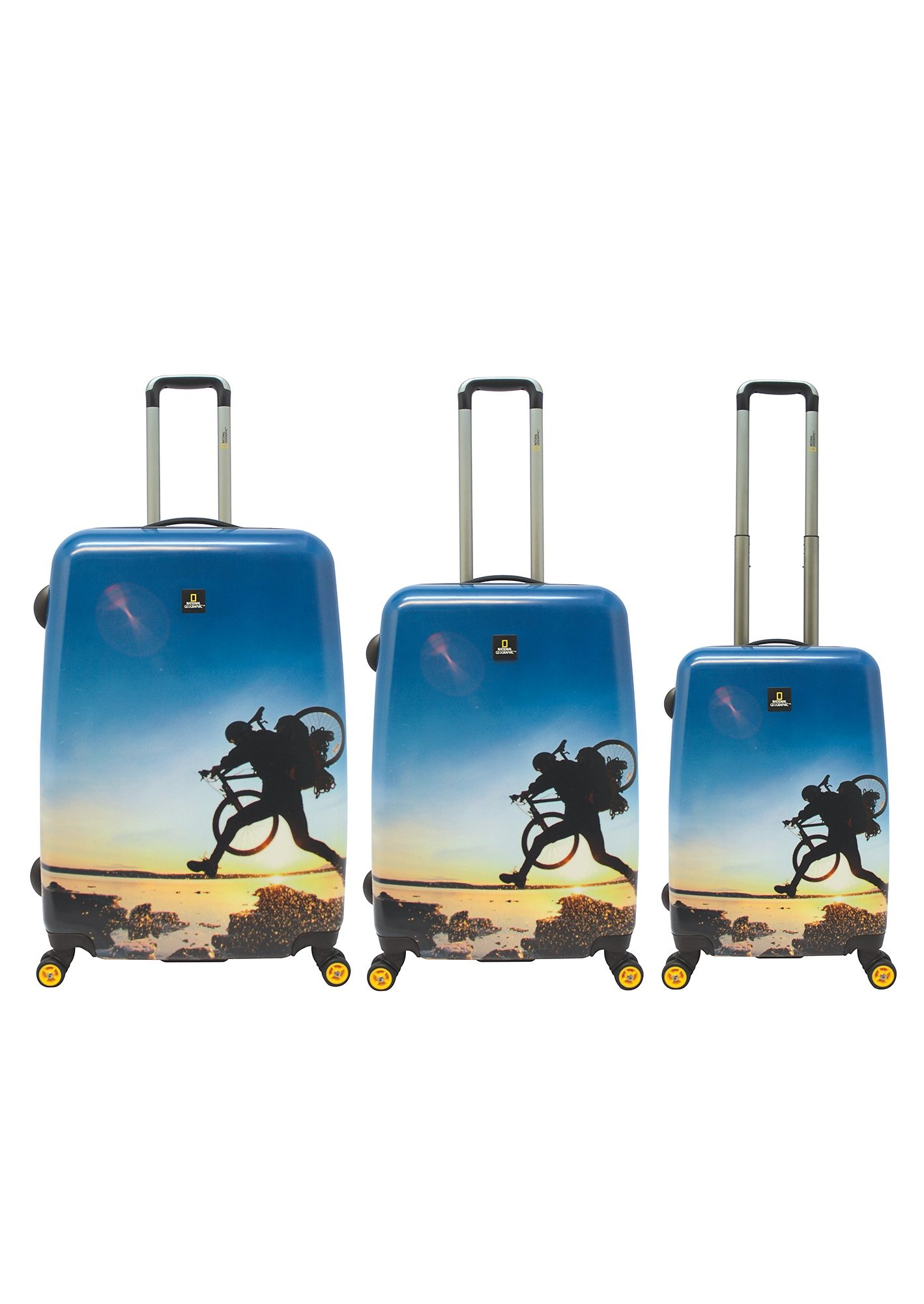 National Geographic, Trolley-Set mit 4 Rollen, Adventure of Life , »X-Biker« (3tlg.)