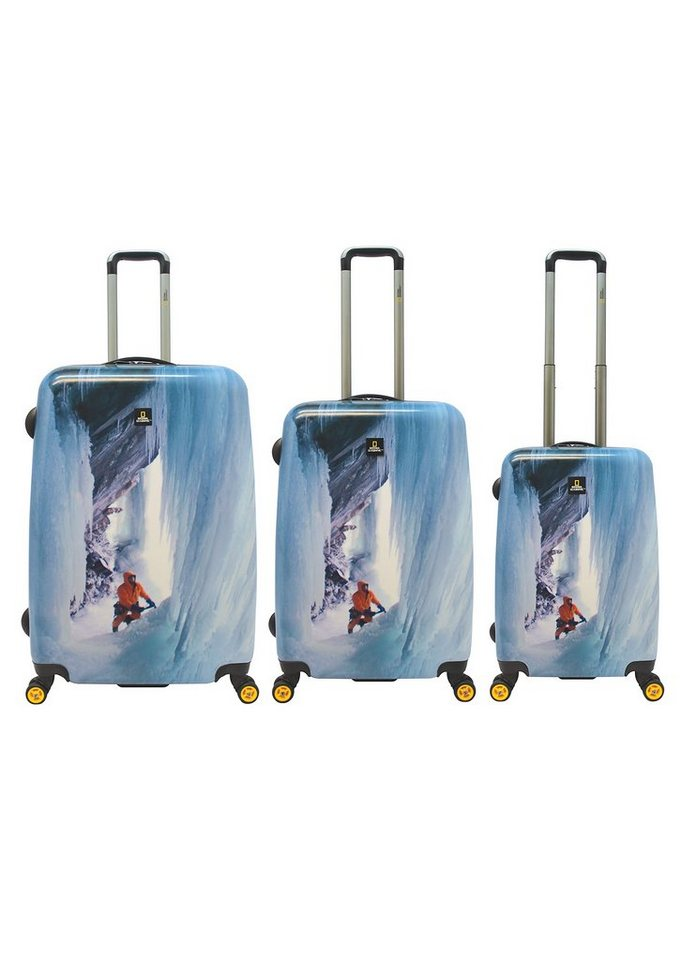 National Geographic, Trolley-Set mit 4 Rollen, Adventure of Life , »Glacier Climber« (3tlg.)