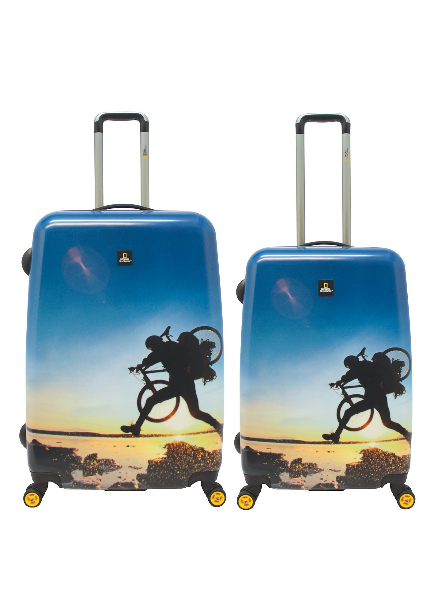 National Geographic,Trolley-Set mit 4 Rollen, Adventure of Life , »X-Biker«, (2tlg.)