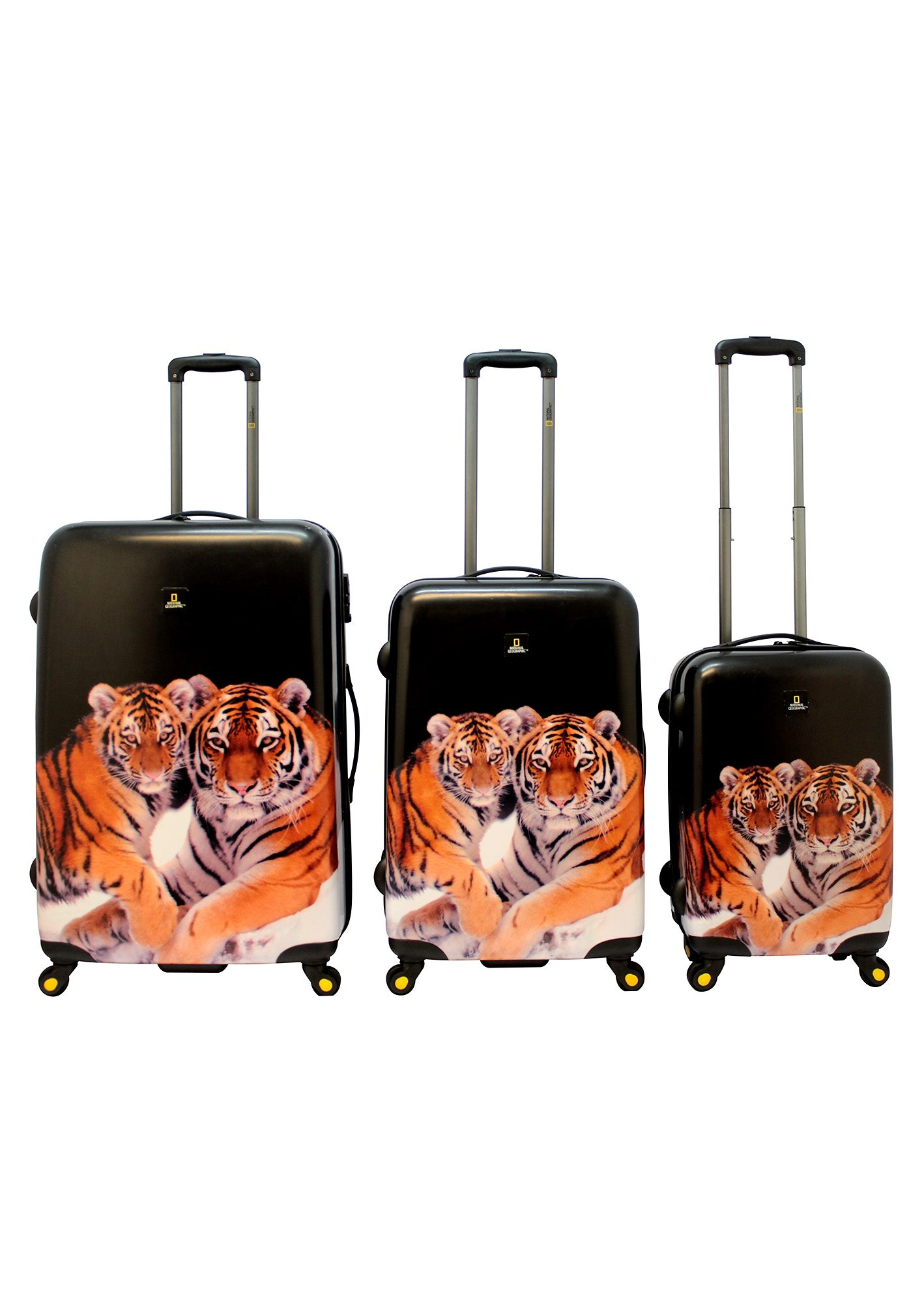 National Geographic, Trolley-Set mit 4 Rollen, Nature of Love, »Tiger« (3tlg.)