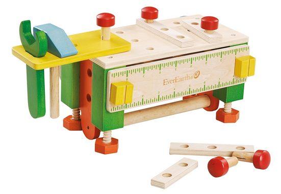 EverEarth® Spiel-Werkzeugstation »2-in-1 Werkzeugkasten und Werkbank«