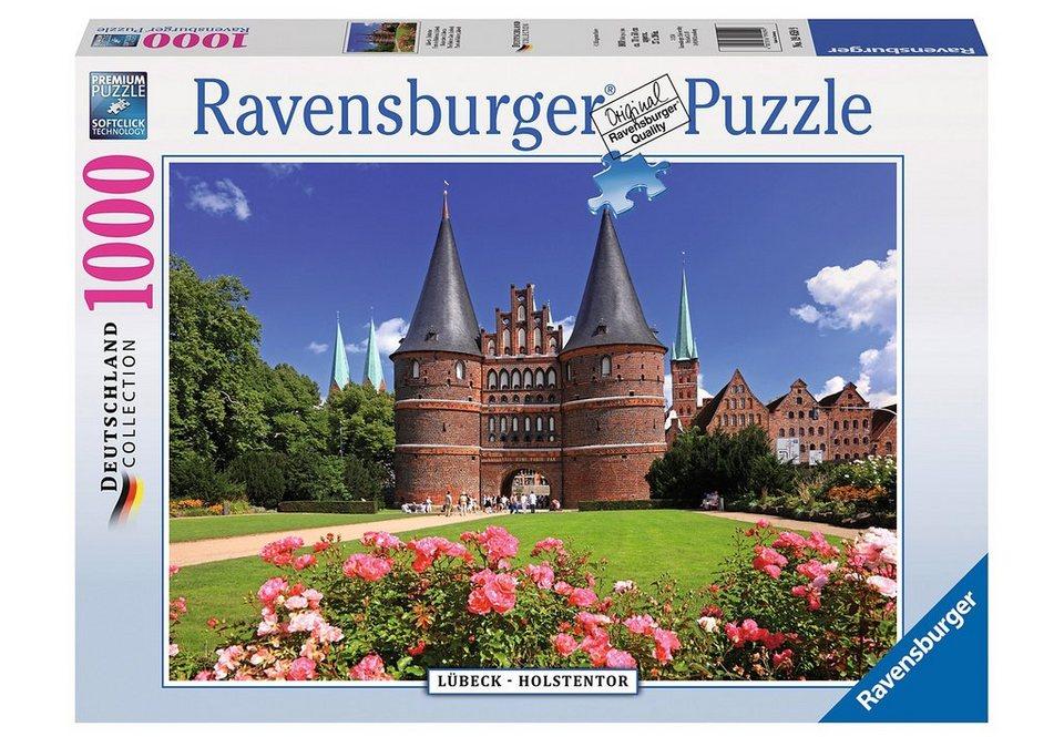 Ravensburger Puzzle 1000 Teile, »Lübeck - Holstentor«