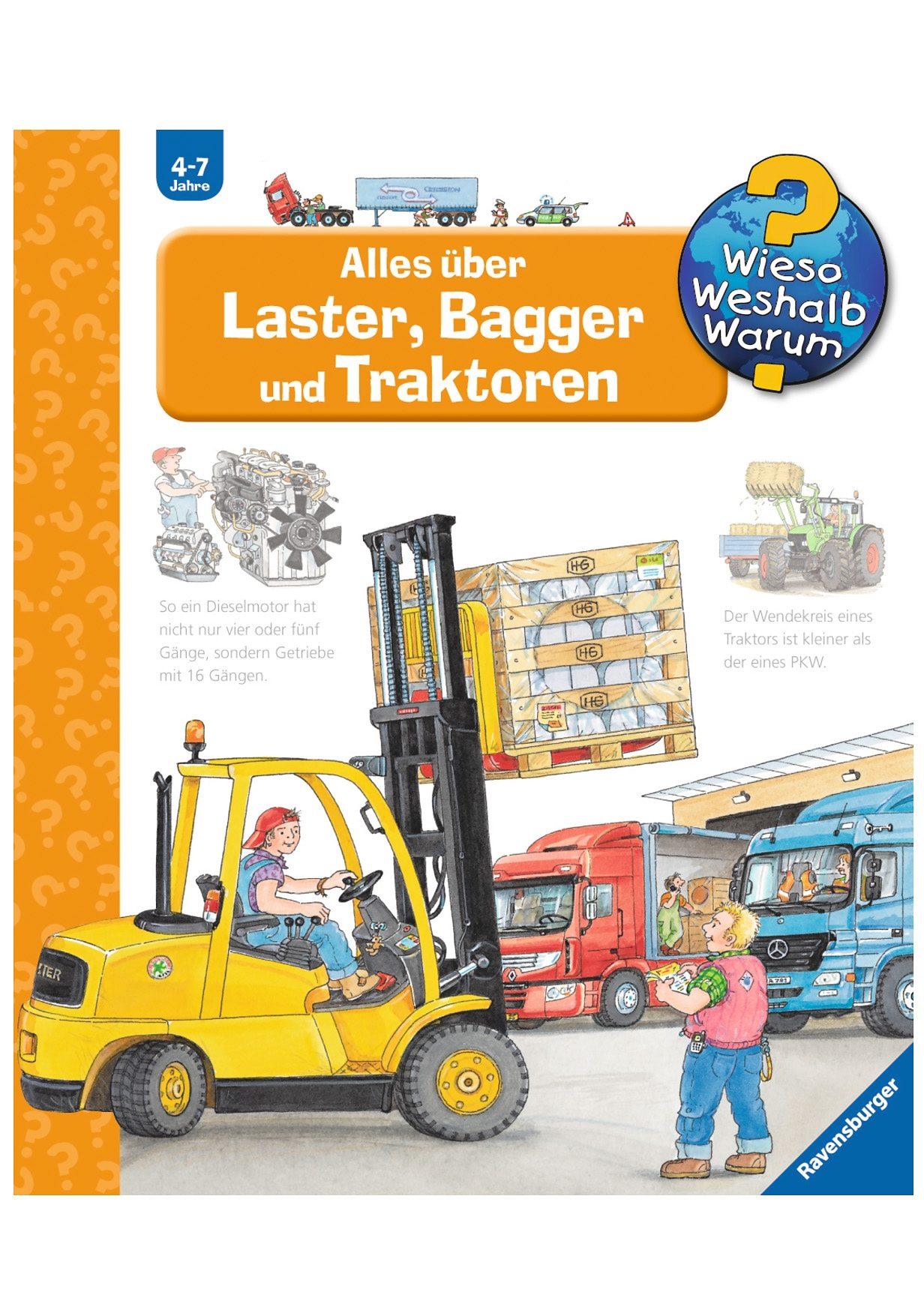 Ravensburger Kinderbuch, »Laster, Bagger und Traktoren / Wieso? Weshalb? Warum?«