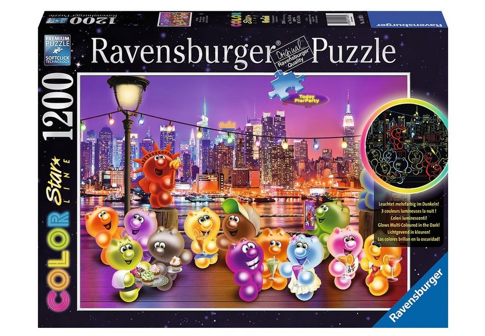 Ravensburger Color-Puzzle 1200 Teile, »Pier Party«
