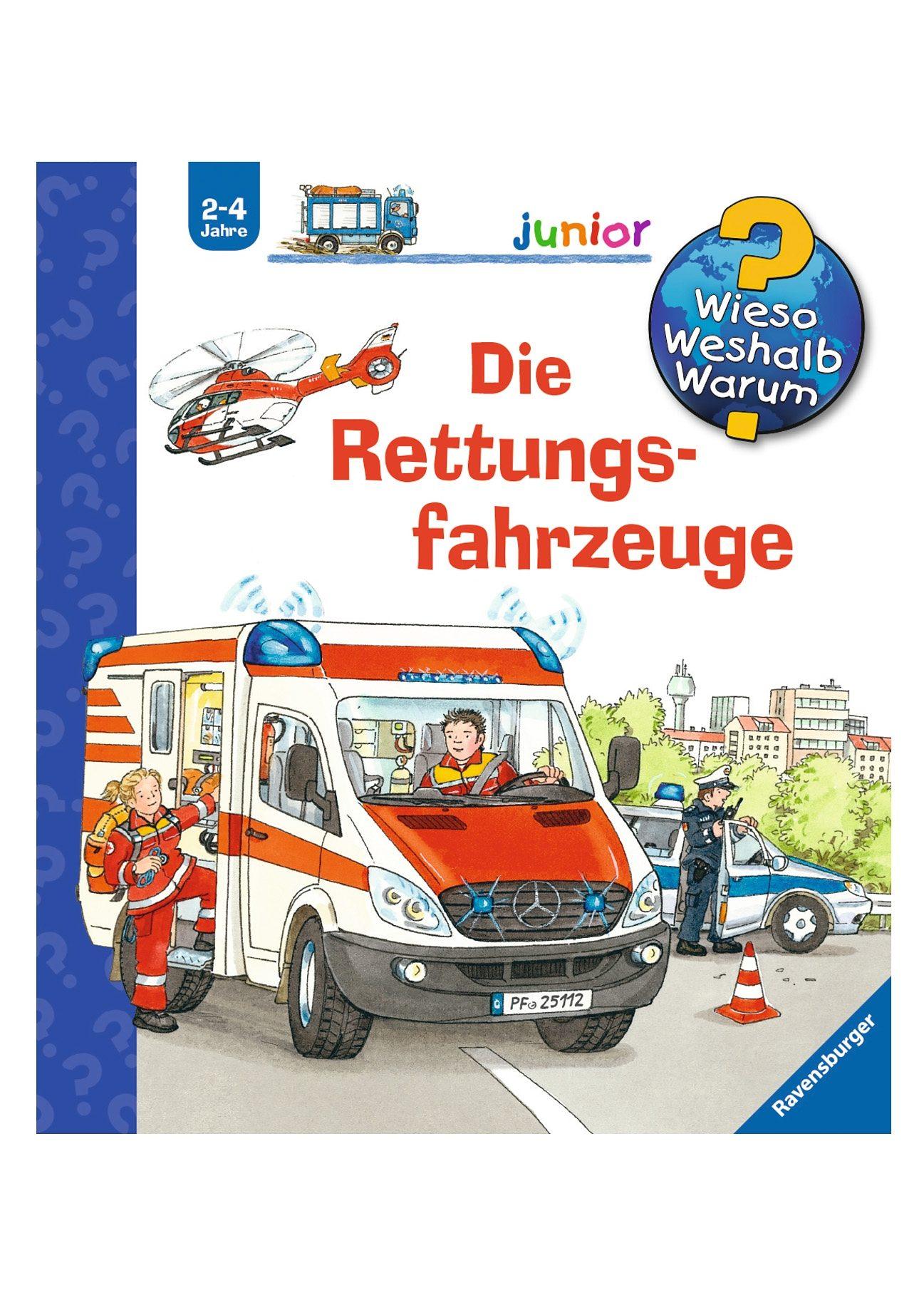 Ravensburger Kinderbuch, »Die Rettungsfahrzeuge / Wieso? Weshalb? Warum? Junior«