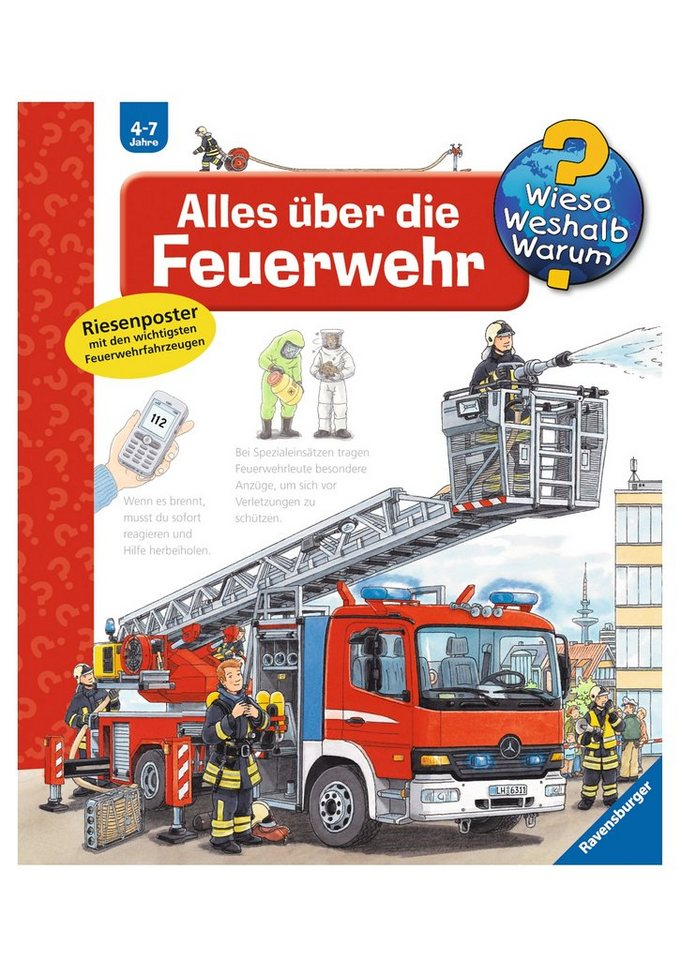 ravensburger kinderbuch alles ber die feuerwehr wieso. Black Bedroom Furniture Sets. Home Design Ideas