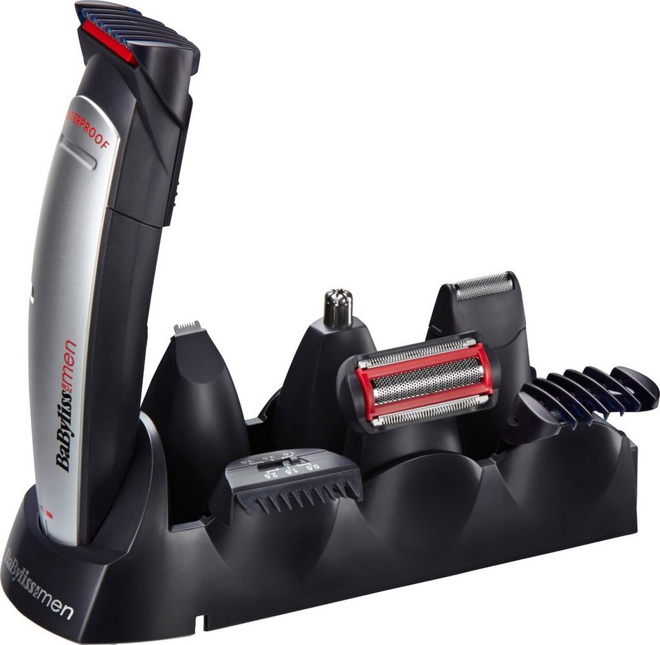 BaByliss, Multifunktionstrimmer, E837E, 10 in 1 in silber/blau/rot