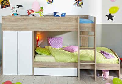 etagenbett mit stauraum. Black Bedroom Furniture Sets. Home Design Ideas