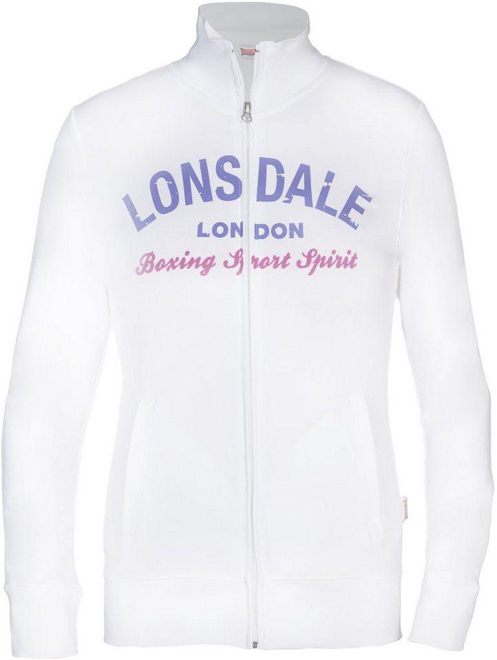 Lonsdale Sweatjacke in White