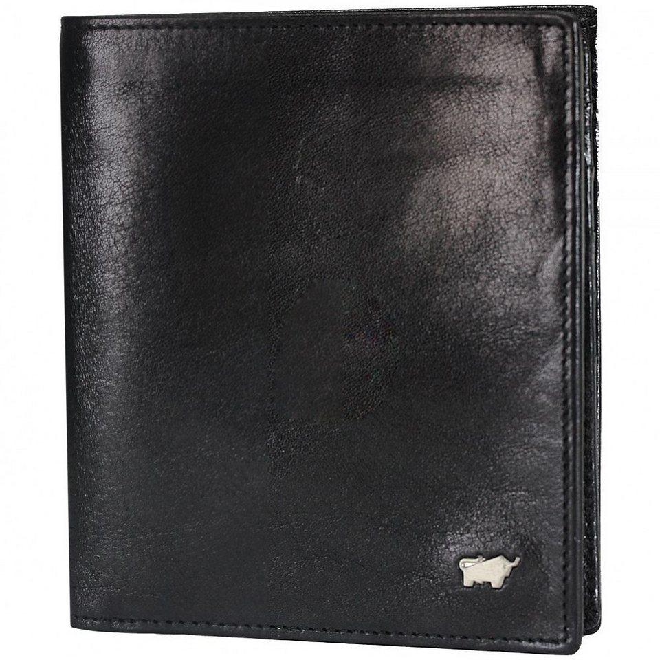 Braun Büffel Basic Geldbörse Leder 10,5 cm in nachtschwarz