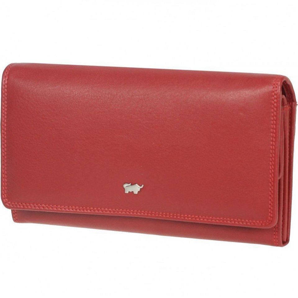 Braun Büffel Golf Geldbörse Leder 18 cm in rubinrot
