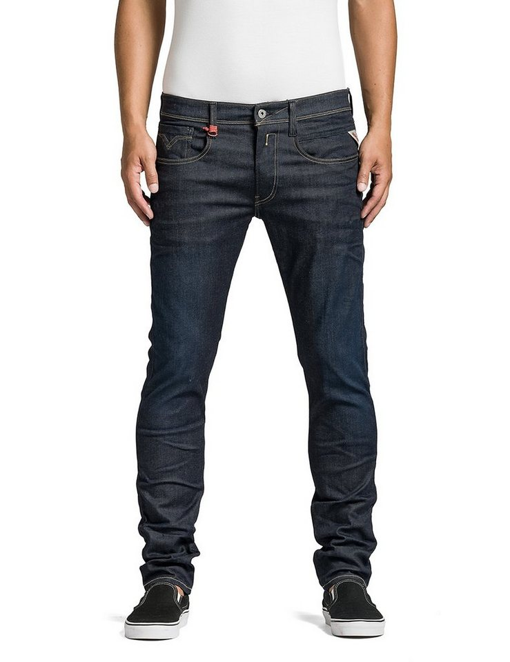 Replay Jeans »Anbass Hyperflex« in Blue Denim