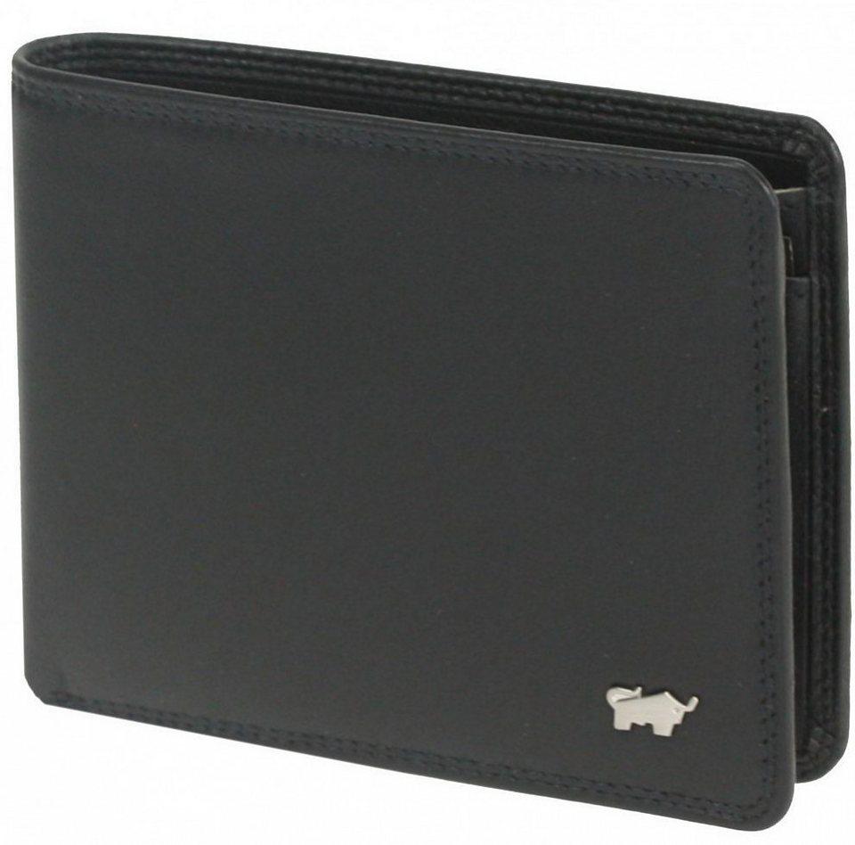 Braun Büffel Golf Geldbörse Leder 12 cm in nachtschwarz