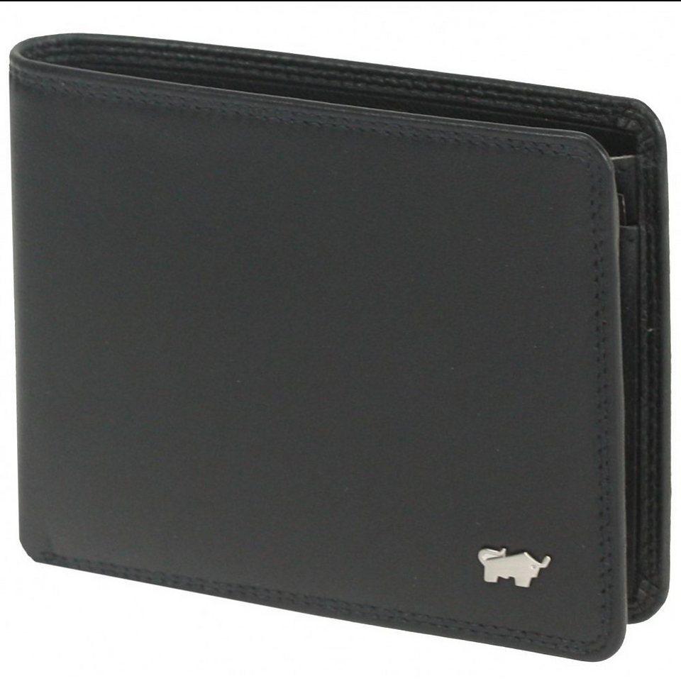 Braun Büffel Golf Geldbörse Leder 11,5 cm in nachtschwarz
