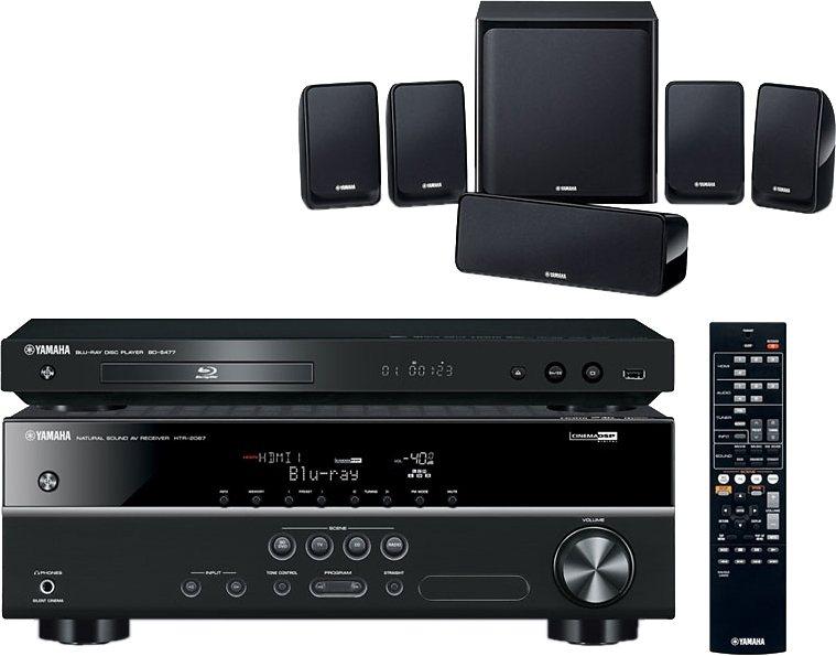 Yamaha BD-Pack 1810 5.1 Heimkinosystem (Blu-ray-Player, 600 W, WLAN) in schwarz