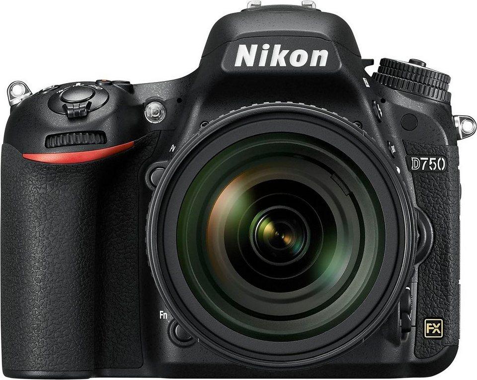 Nikon D750 Spiegelreflex Kamera, AF-S Nikkor 24-85 VR F3,5-4,5G ED, 24,3 Megapixel in schwarz