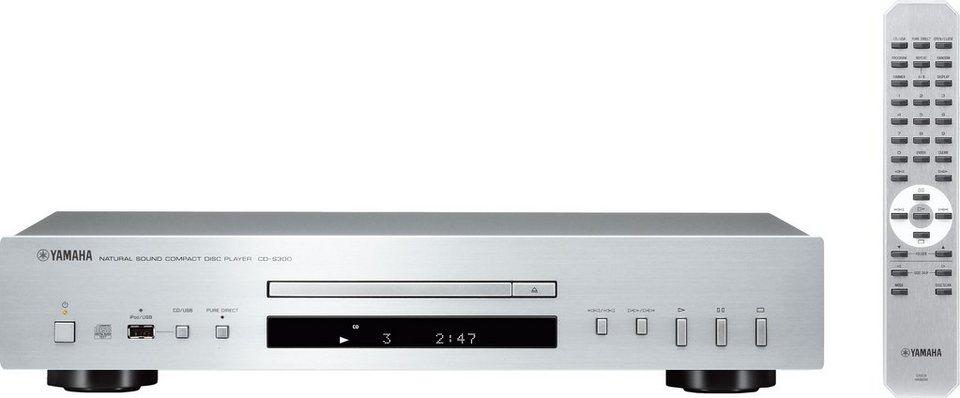 Yamaha CD-S300 CD-Player in silberfarben