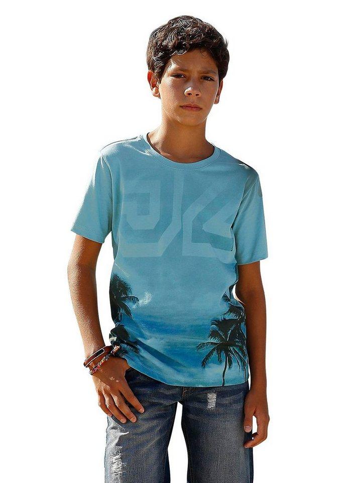 Arizona T-Shirt mit Fotodruck in hellpetrol