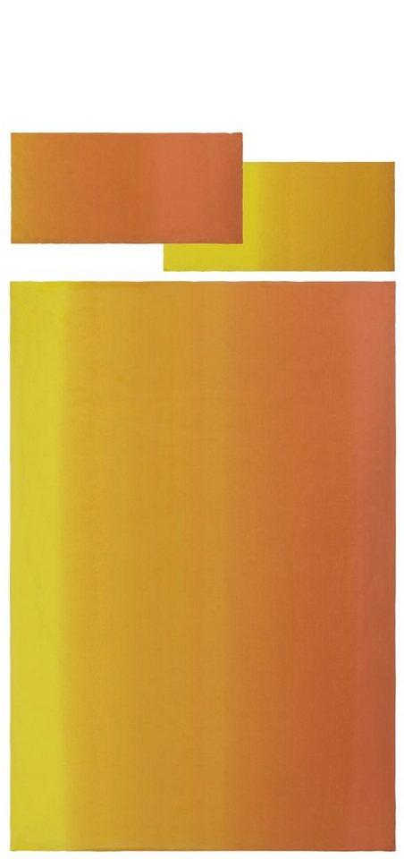 Bettwäsche, my home, »Filippa«, mit Farbverlauf in gelb