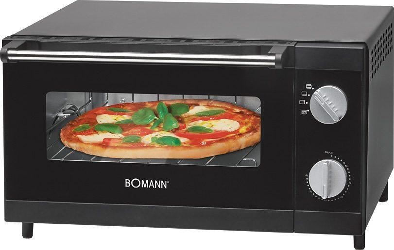 BOMANN Minibackofen MPO 2246 CB, Ober-/Unterhitze, 1000 W, Pizzaofen ideal zum Grillen und Aufbacken