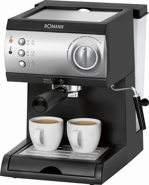 Bomann Espressoautomat ES 184 CB, 15 Bar in schwarz silber