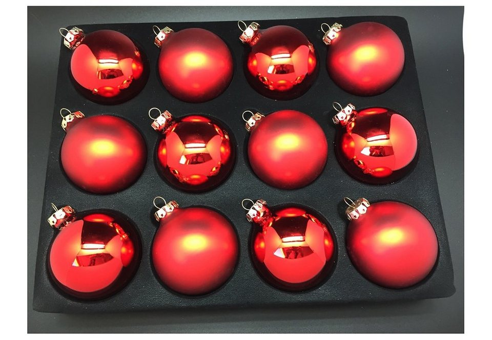 Glaskugel-Sortiment, Thüringer Glasdesign in rot