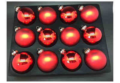 Thüringer Glasdesign Weihnachtsbaumkugel (12 Stück)