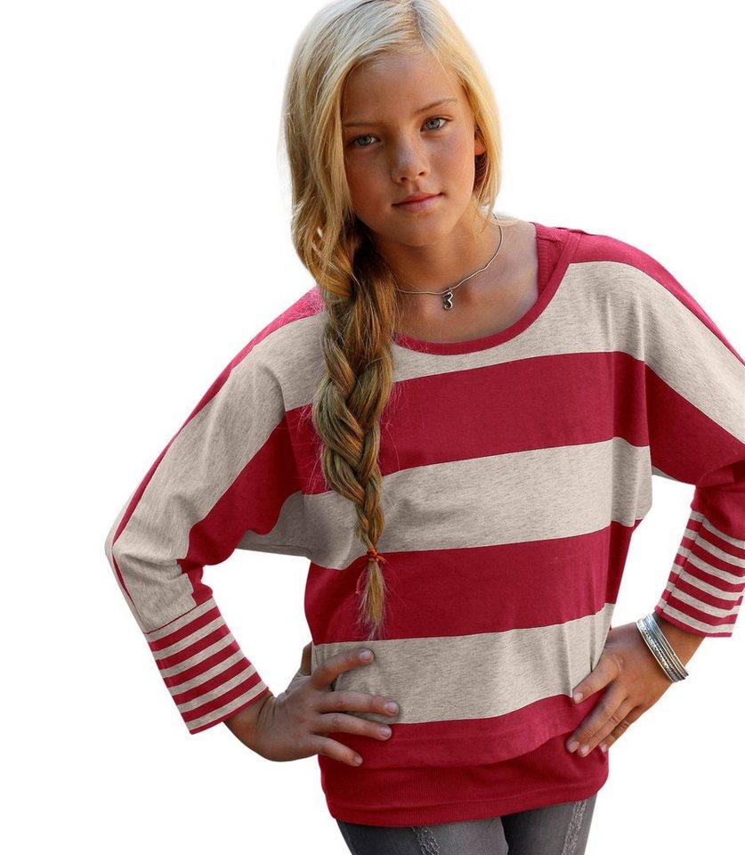 CFL 2-in-1-Shirt (Set, 2 Stück), für Mädchen in rot-Offwhite