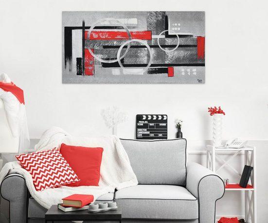 KUNSTLOFT Gemälde »Trigonometrie«  handgemaltes Bild auf Leinwand