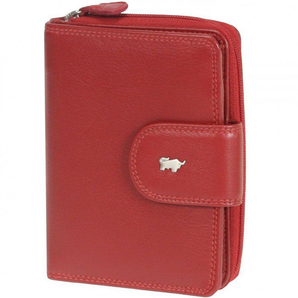 Braun Büffel Golf Geldbörse Leder 10 cm in rubinrot