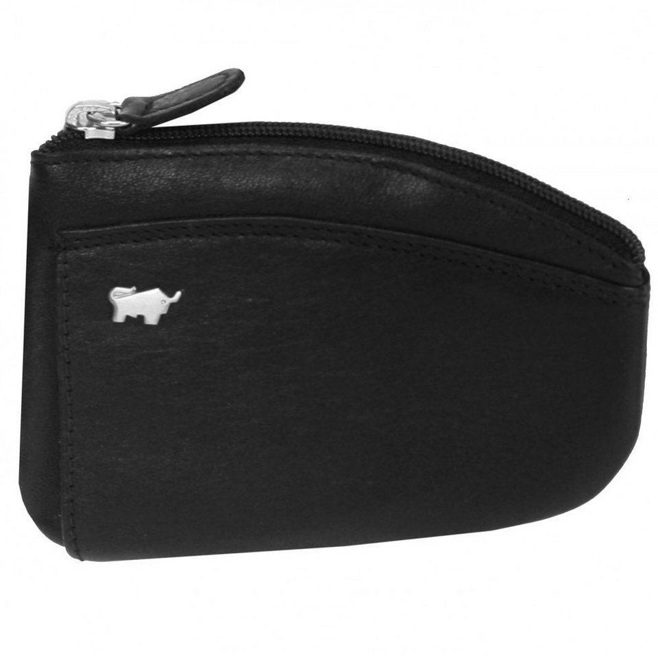 Braun Büffel Golf Schlüsseletui Leder 11,5 cm in nachtschwarz