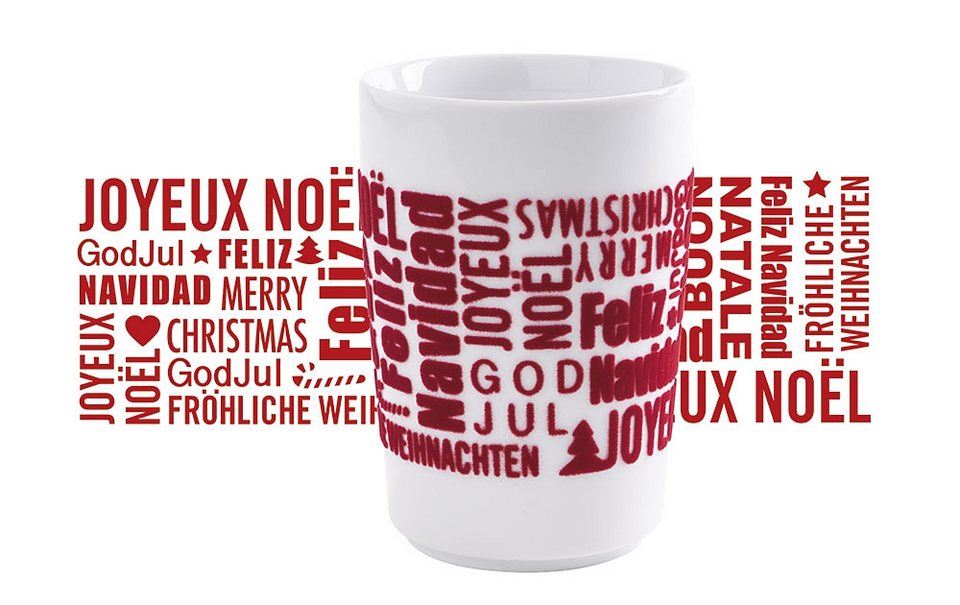 Kahla Maxi-Becher »touch Xmas Greetings« in Rot