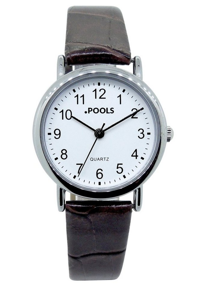 "Pools, Armbanduhr, ""1103"" in braun"