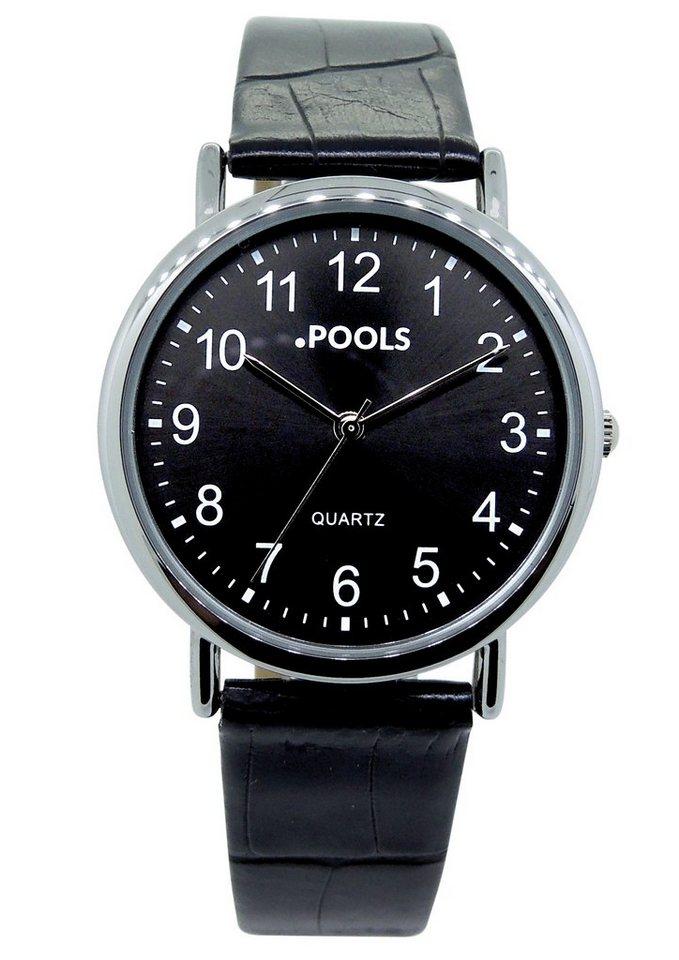 POOLS Quarzuhr »3059« in schwarz