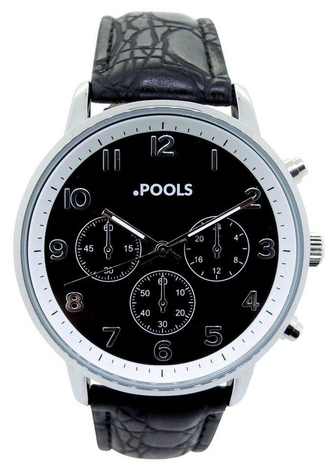 "Pools, Armbanduhr, ""3046"" in schwarz"