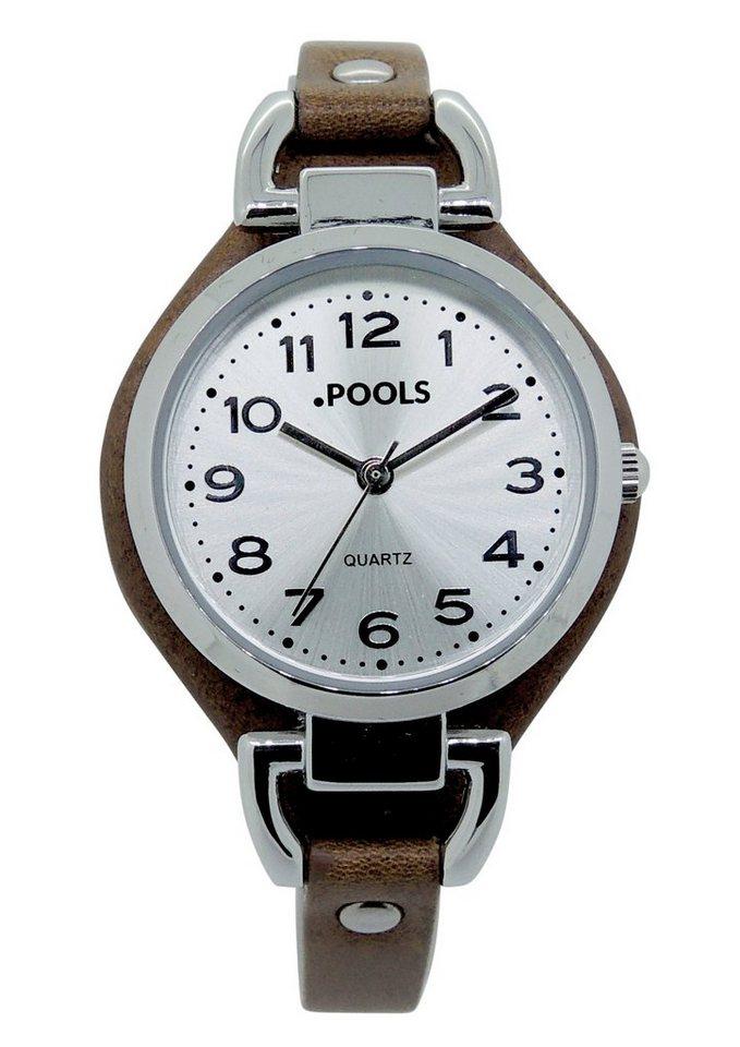 "Pools, Armbanduhr, ""1095"" in braun"