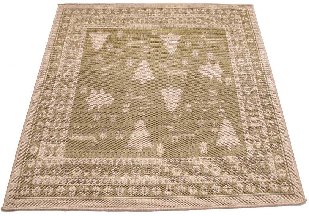 Teppich »Weihnachtsteppich«, Kontor Hamburg, rechteckig, Höhe 10 mm, 100% Polypropylen, abwaschbar
