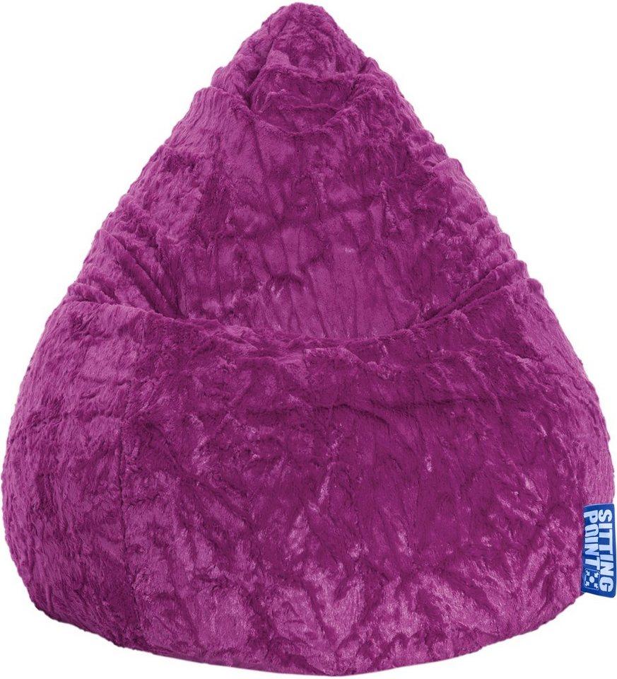 Sitzsack »Fluffy Beanbag L« in lila