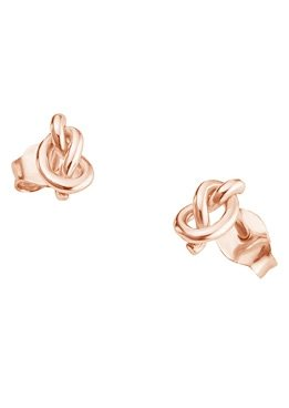 Paar Ohrstecker, »C7029E/90/00«, caï love in Silber 925/roségoldfarben vergoldet