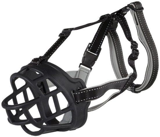 TRIXIE Maulkorb »Muzzle Flex«, Silikon, Nylon, Neopren, 36 cm Korbumfang