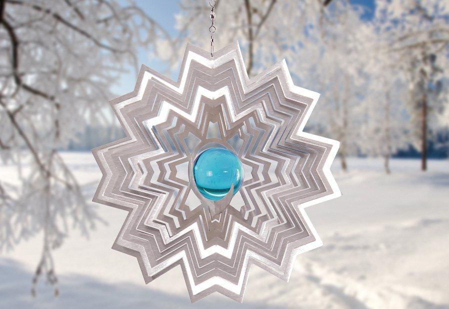 Windspiel, »Atria«, ILLUMINO in blau