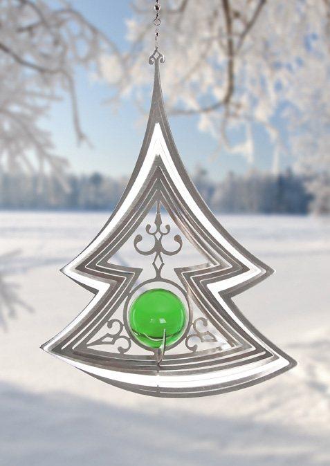 Windspiel, »Noel«, ILLUMINO in grün