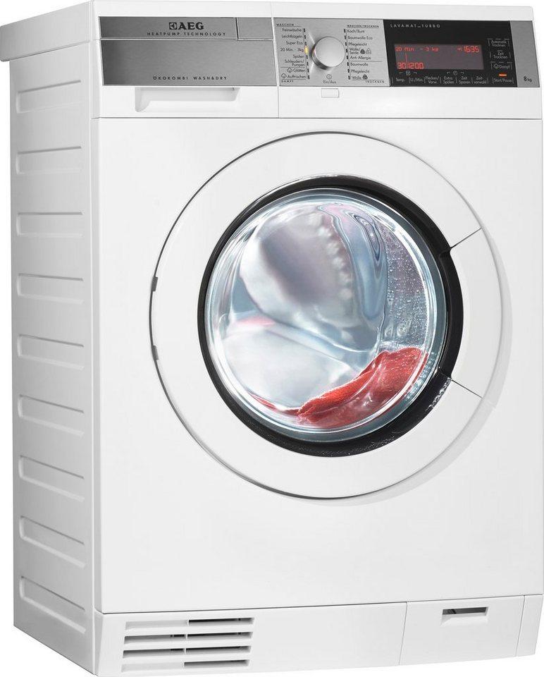 AEG Waschtrockner Lavamat L99484HWD, A, 8 kg / 5 kg, 1.400 U/Min in weiß