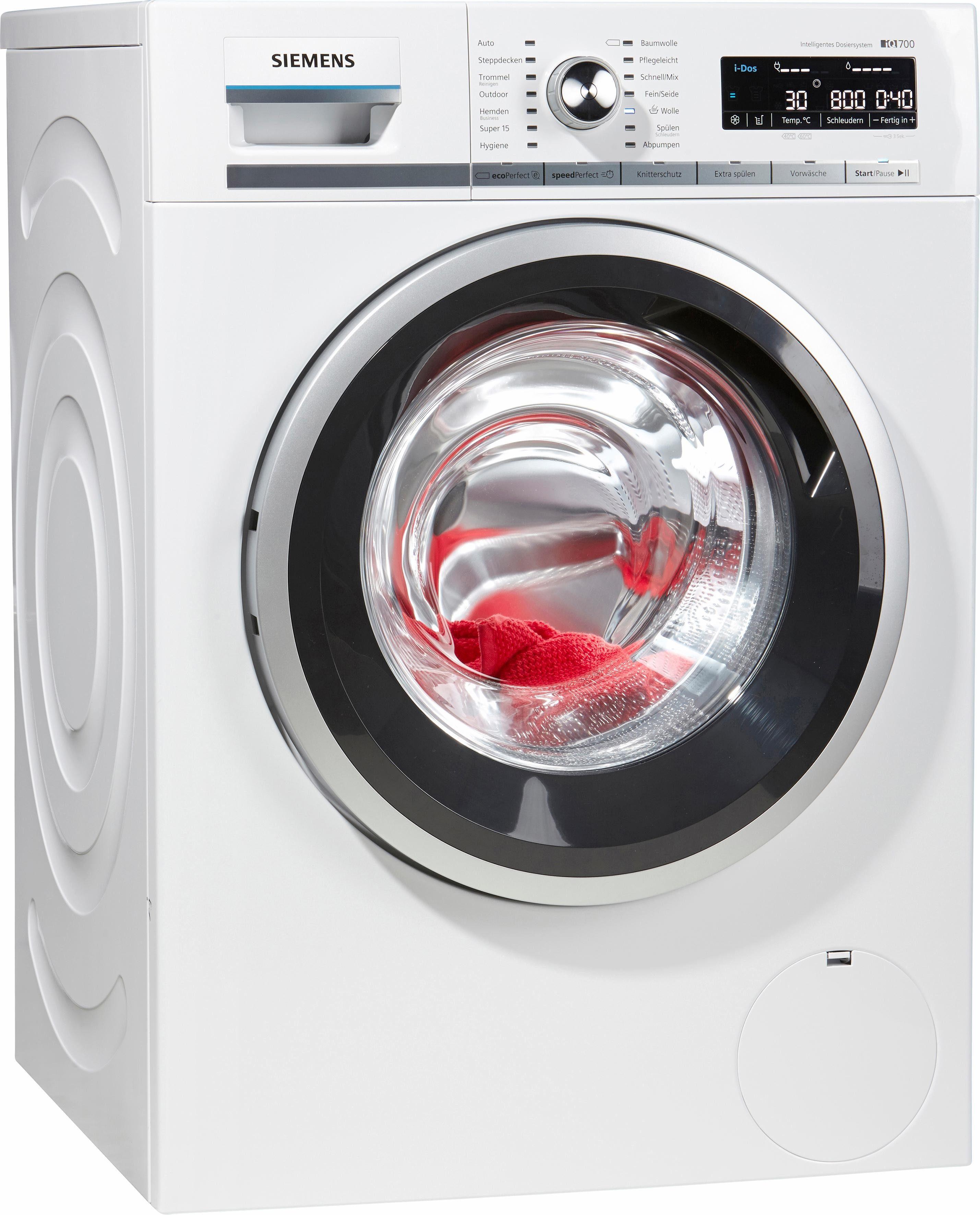 SIEMENS Waschmaschine iQ700 WM14W6ECO i-Dos, 8 kg, 1400 U/Min