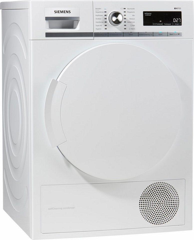 SIEMENS Trockner WT44W5V5, A++, 8 kg in weiß