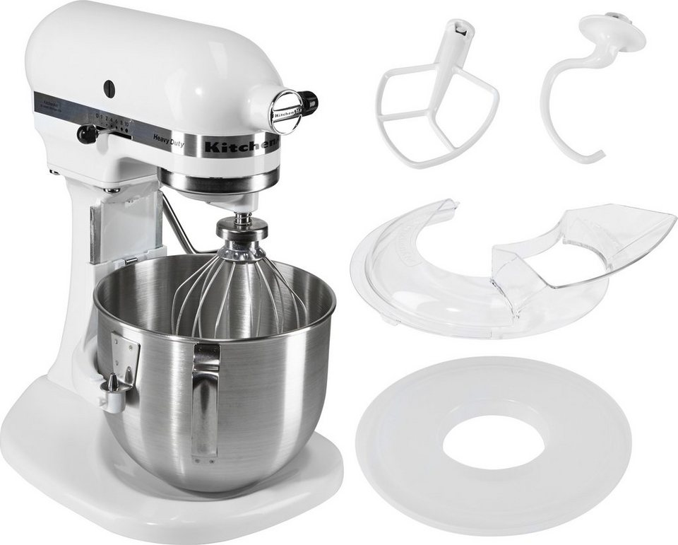 KitchenAid® Küchenmaschine »Heavy Duty 5KPM5EWH«, 4,81 Liter, 315 Watt in weiß