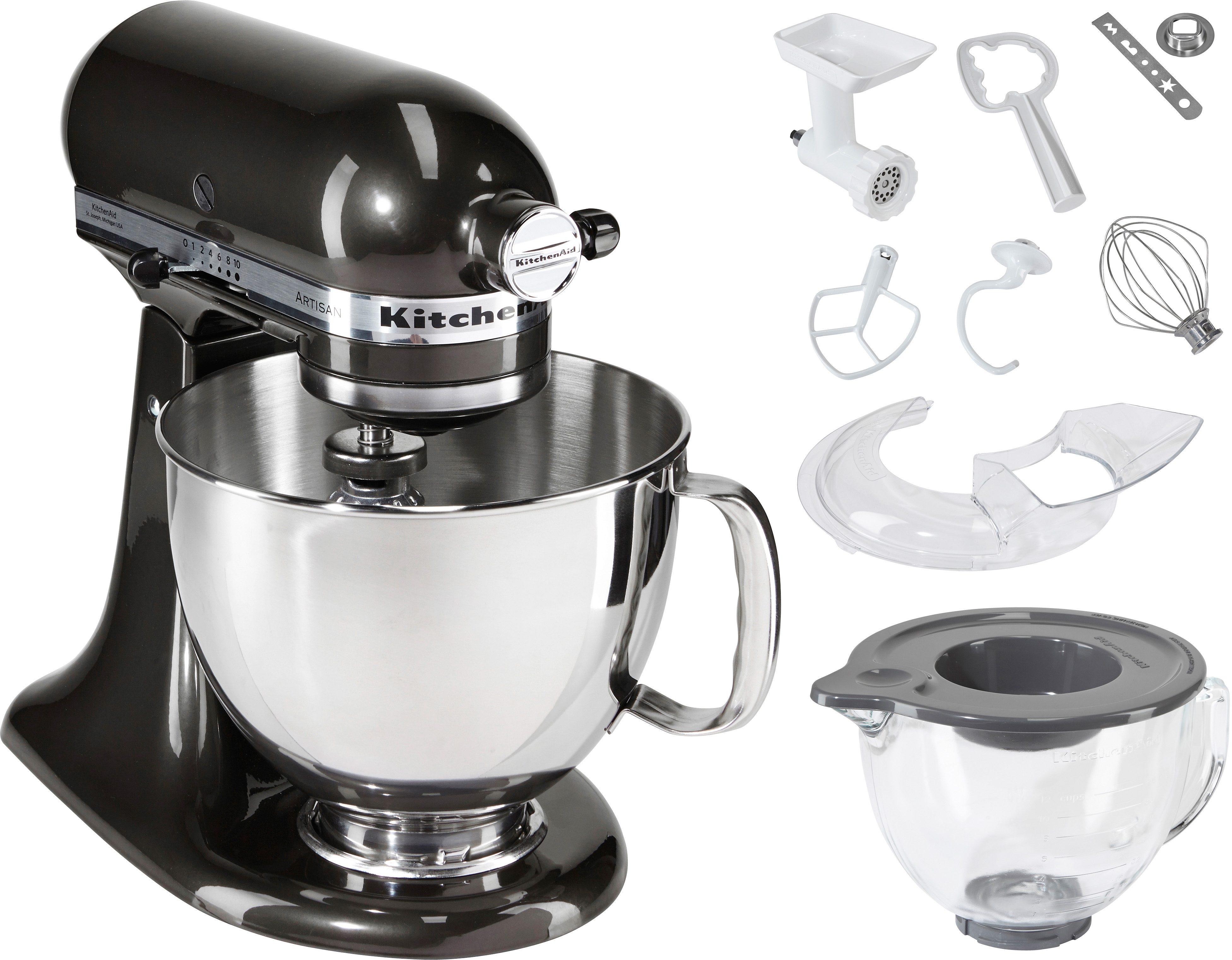 KitchenAid Küchenmaschine Artisan 5KSM156EBZ - mit Sonderzubehör im Wert von ca. 205,-€