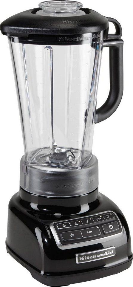 KitchenAid Standmixer 5KSB1585EOB, 550 Watt, Stufenlos, onyx schwarz in schwarz