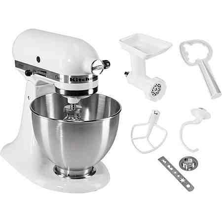 KitchenAid® Küchenmaschine Classic 5K45SS EWH inkl. Sonderzubehör im Wert von ca 90,- Euro