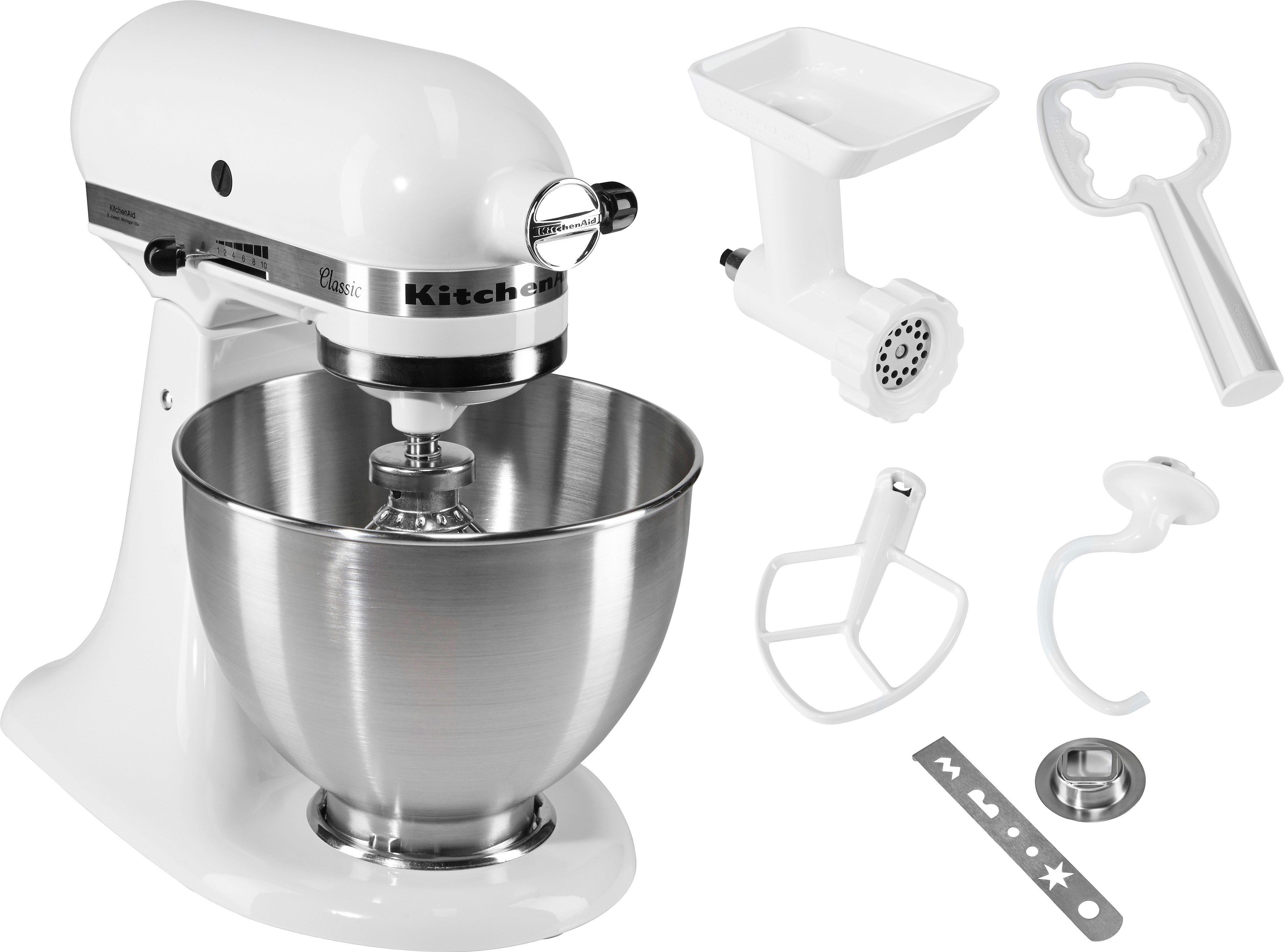 KitchenAid® Küchenmaschine Classic 5K45SS EWH inkl. Sonderzubehör im Wert von ca 90,- €